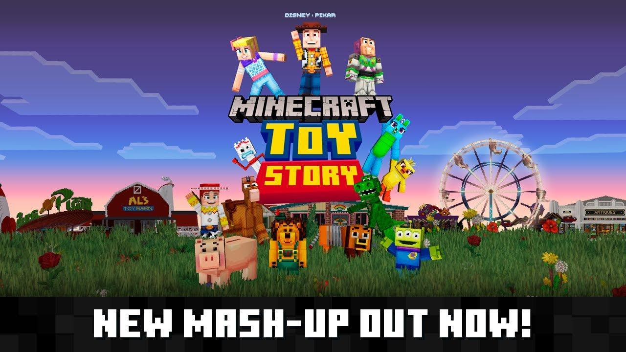 Трейлер Toy Story Mash-Up Pack для Minecraft