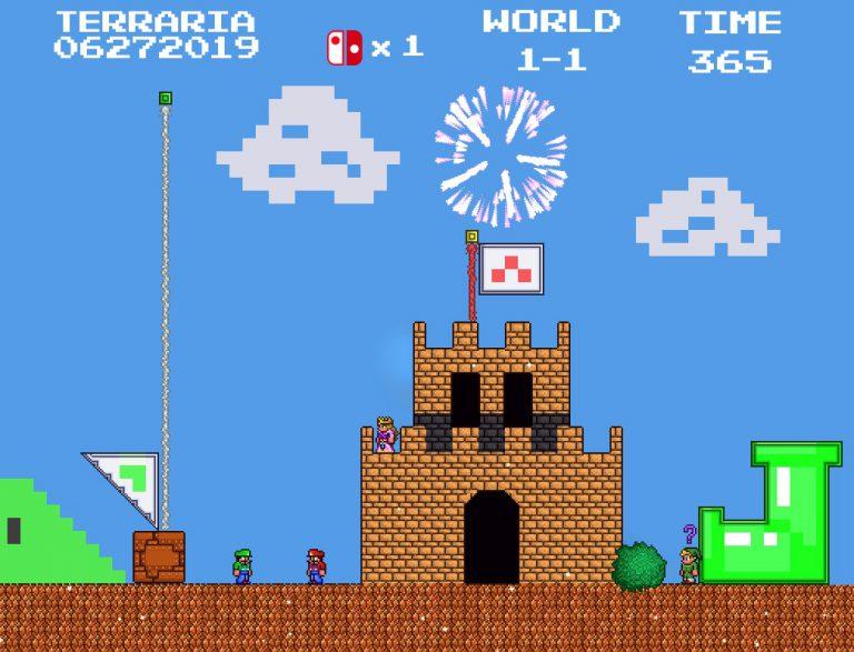 Релизный трейлер и геймплей Terraria для Nintendo Switch