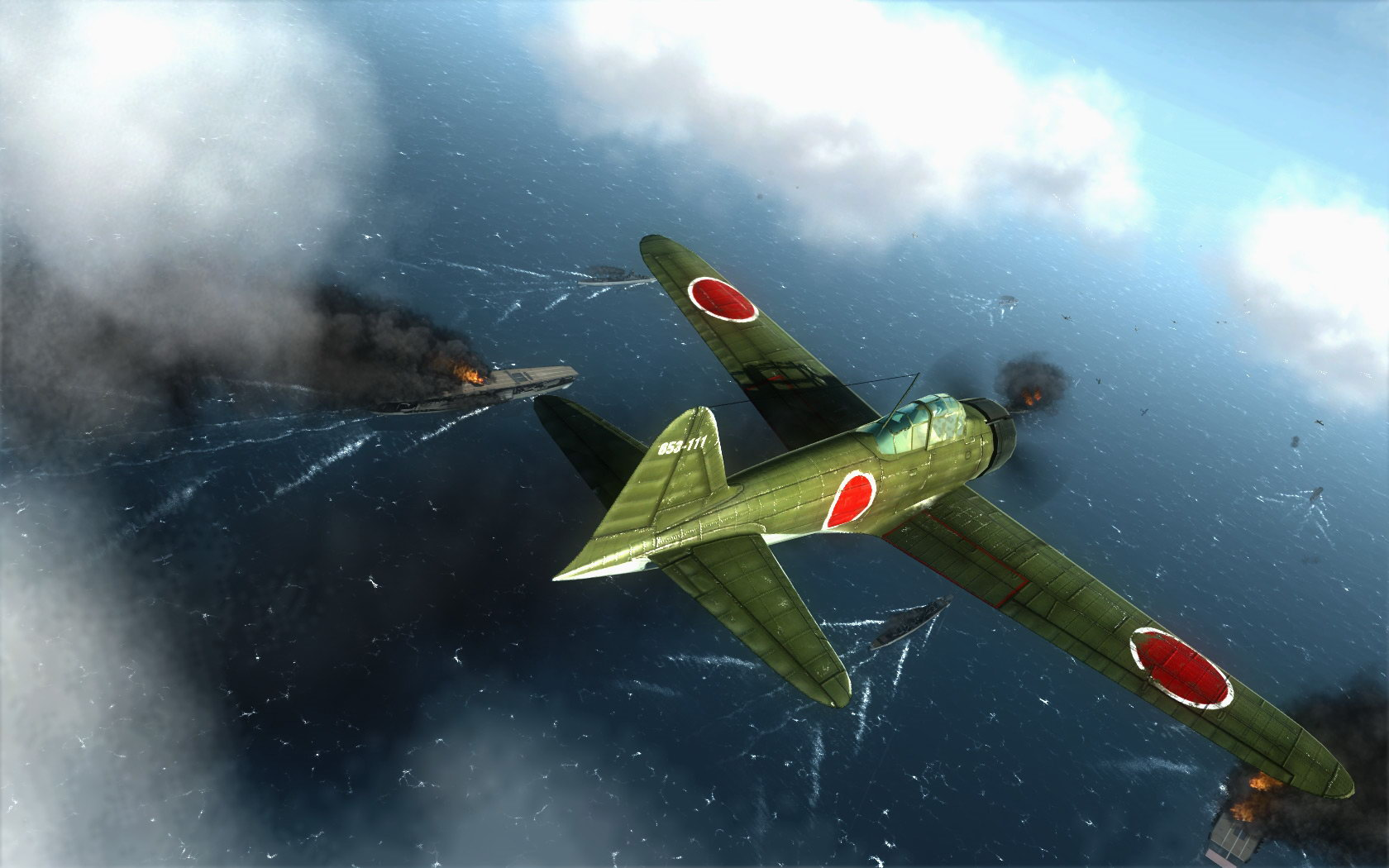 Обзор Air Conflicts: Pacific Carriers — игрушечные болванчики