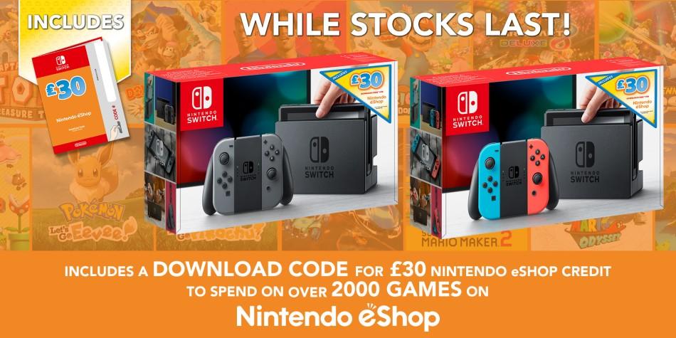Nintendo начнёт продавать Switch с картами оплаты eShop в Европе