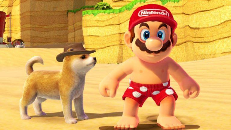 Nintendo добавила готовую модель собаки в Super Mario Odyssey