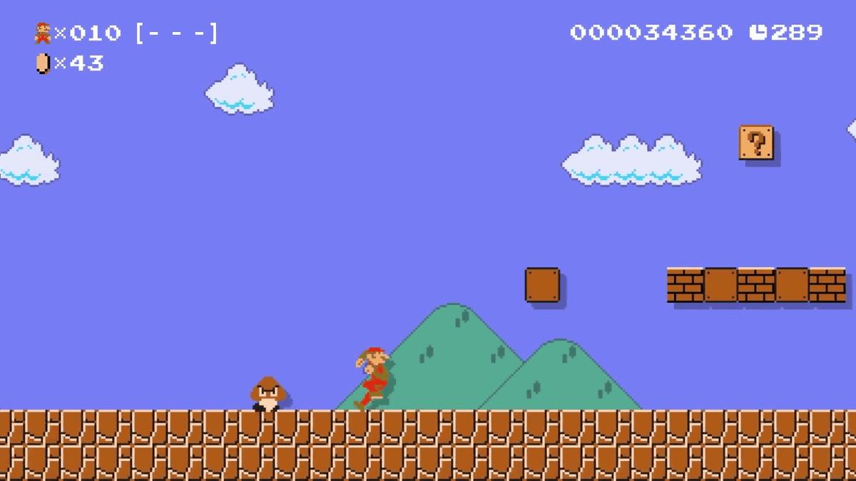 Фанаты нашли худого Марио в Super Mario Maker 2!