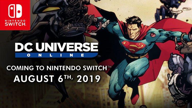Релизный трейлер и запись геймлпея DC Universe Online для Nintendo Switch