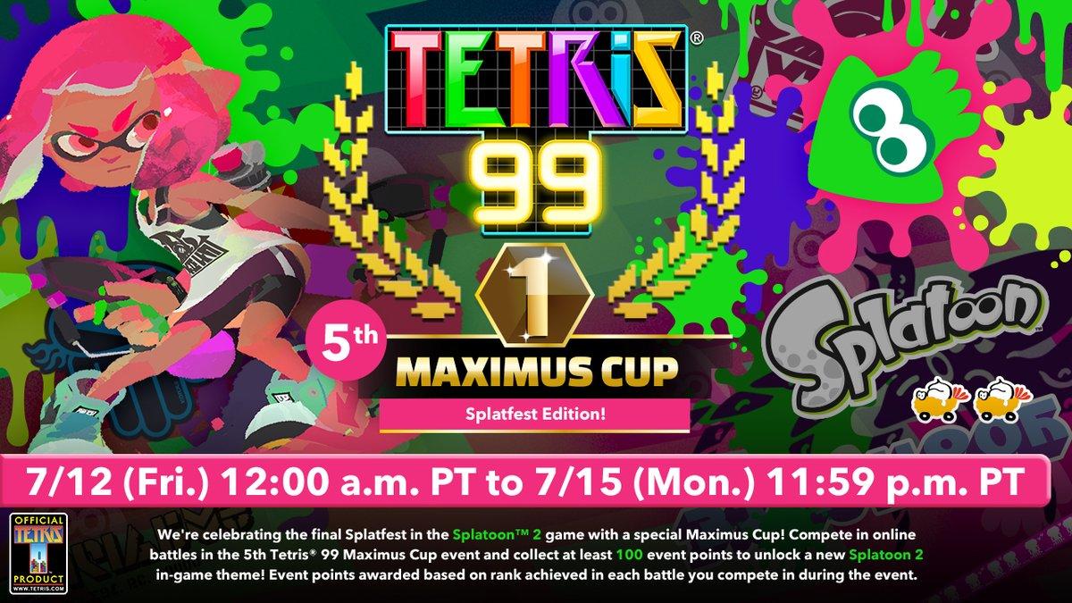 Трейлер новой темы Splatoon для Tetris 99
