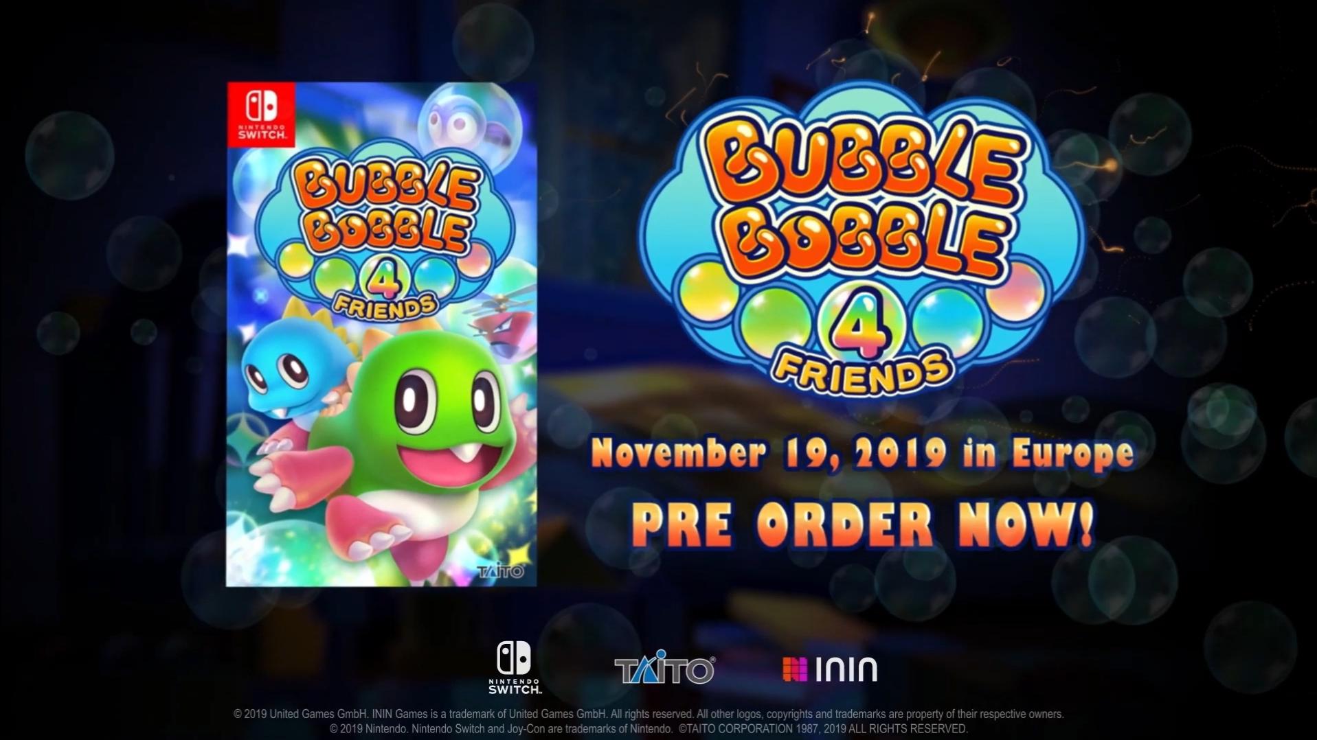 Bubble Bobble 4 Friends выйдет эксклюзивно для Switch!
