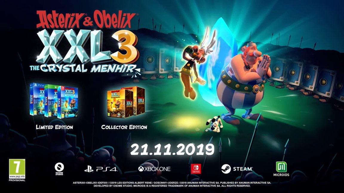 Asterix & Obelix XXL3: The Crystal Menhir выйдет 21 ноября