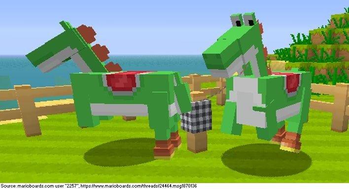 Йоши-кони должны были появиться в Minecraft!