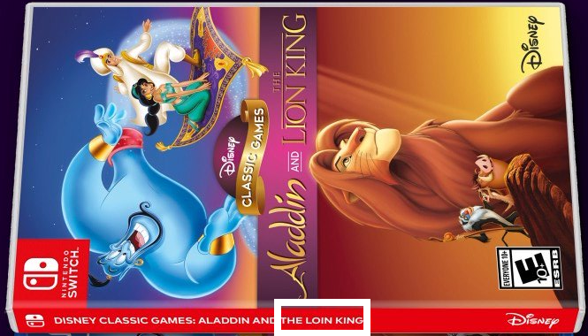 Кто-то допустил ошибку в названии сборника Disney!