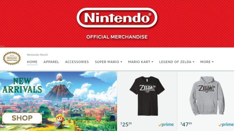 Nintendo открыла официальный раздел товаров на Amazon