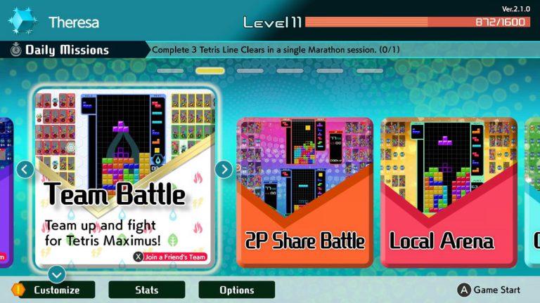 Для Tetris 99 вышло обновление 2.1.0