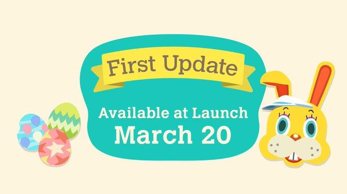 Обновление 1.1.0 для Animal Crossing: New Horizons станет доступно перед релизом