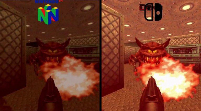 Появилось видео сравнение Switch против N64 в игре DOOM 64
