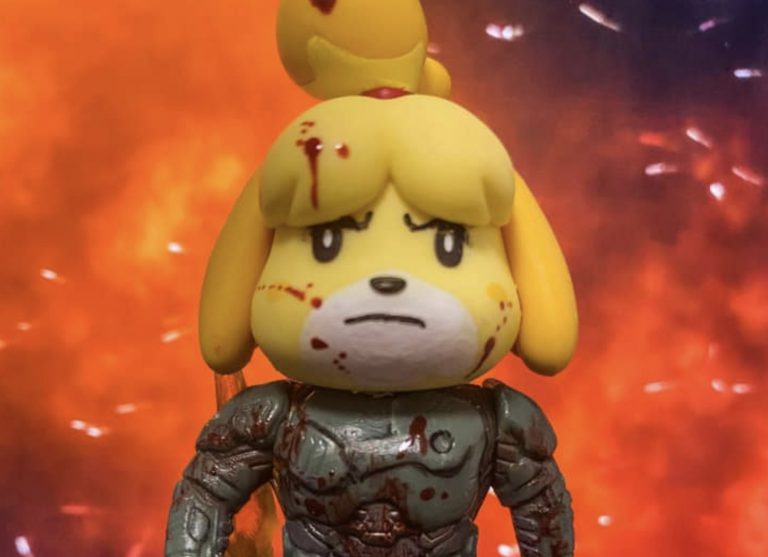 Фанат создал amiibo Doom Slayer Isabelle