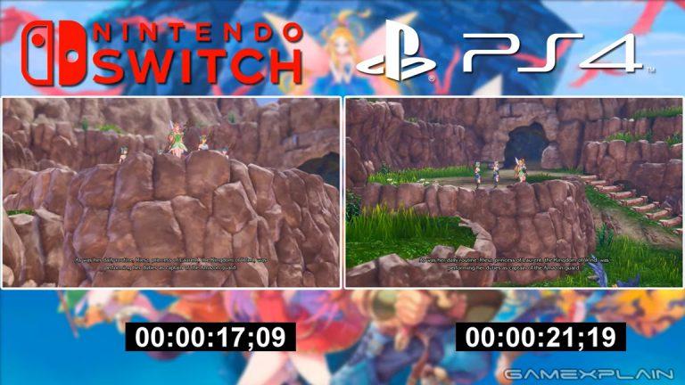 Trials of Mana Switch vs. PS4 сравнение графики и времени загрузки