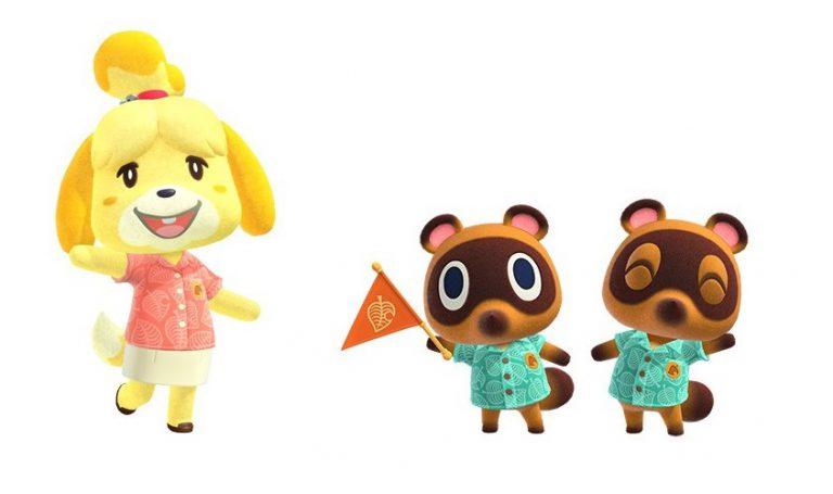 """В Animal Crossing: New Horizons появятся """"гавайки"""" Изабель и Тимми с Томми"""