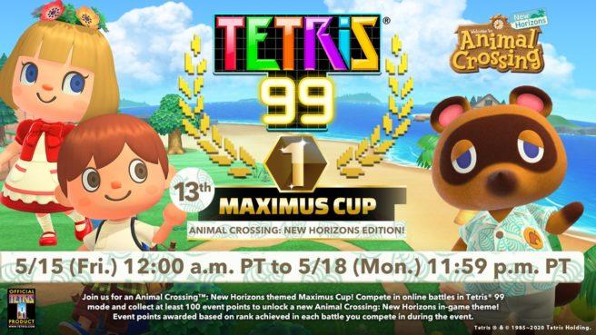 В Tetris 99 анонсирован новый Maximus Cup, посвященный Animal Crossing: New Horizons
