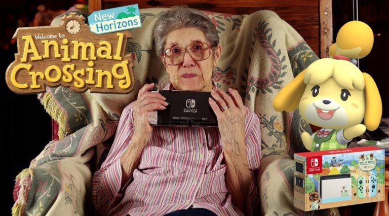 89-летняя бабуля показала свой город в Animal Crossing