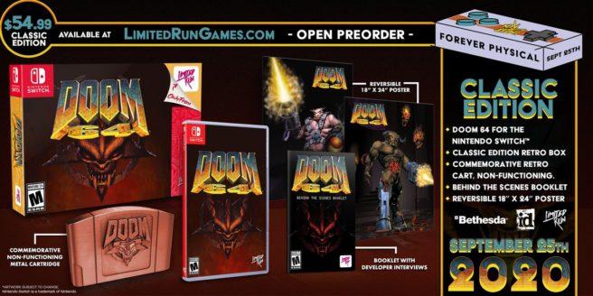 Для Doom 64 анонсирован физический релиз