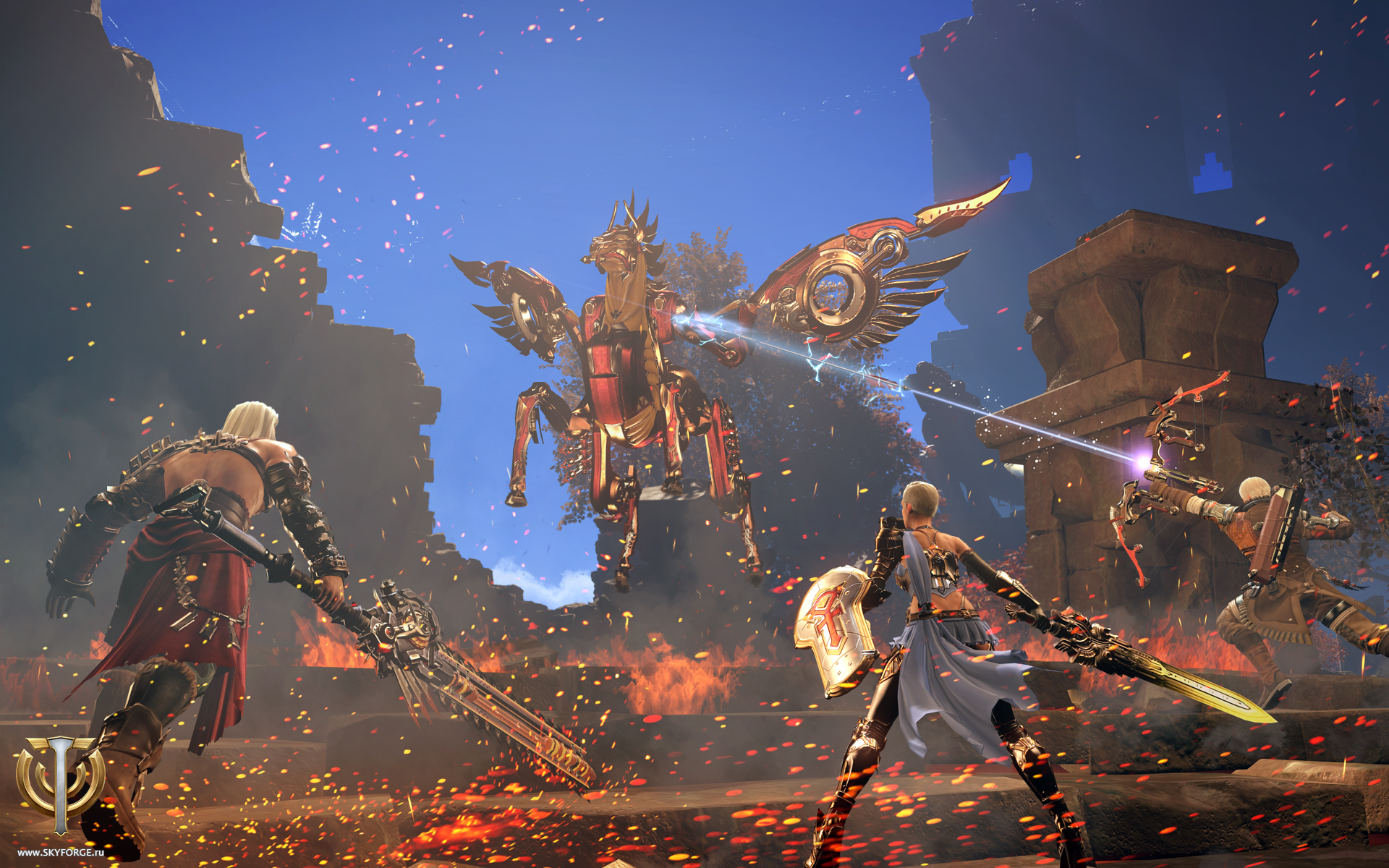 Бесплатная MMORPG Skyforge была анонсирована для Nintendo Switch