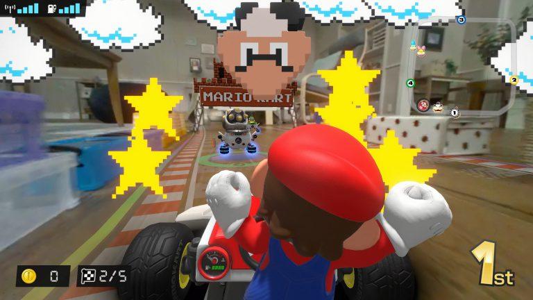 5 минут геймплея Mario Kart Live: Home Circuit
