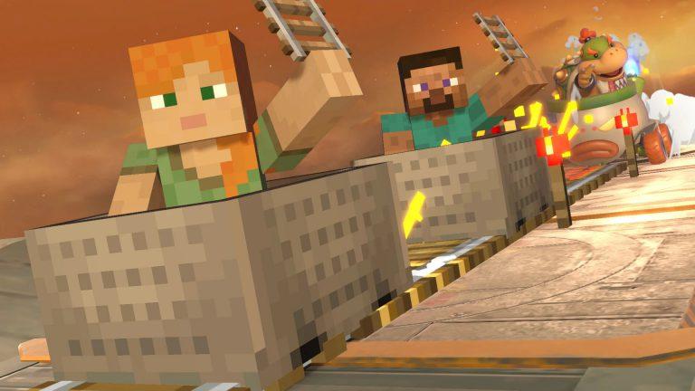 Как выбирать разные биомы Minecraft в Smash Ultimate