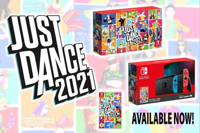 Новый набор Nintendo Switch + Just Dance 2021