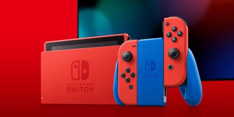 Nintendo анонсировала Switch Mario Red & Blue Edition