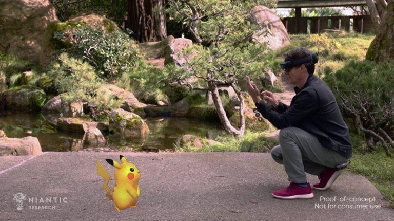 Niantic показали версию Pokemon GO на очки дополненной реальности от Microsoft