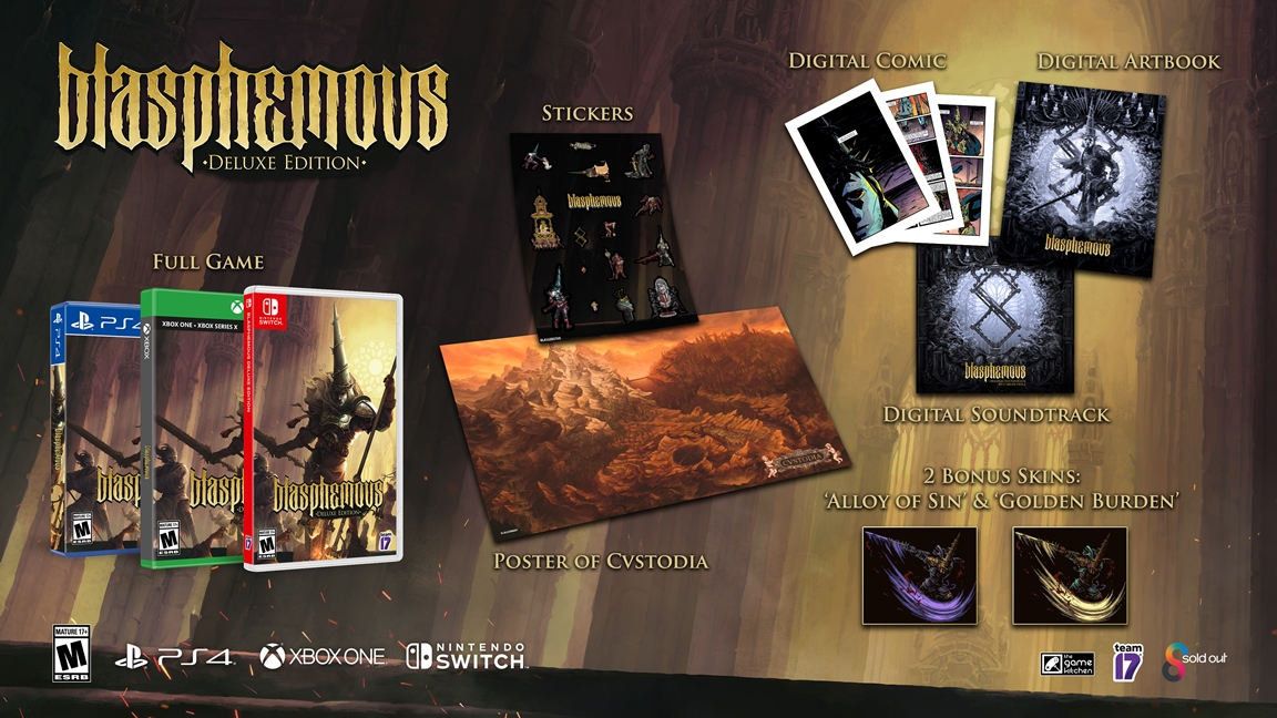 Blasphemous Deluxe Edition получит физическое издание