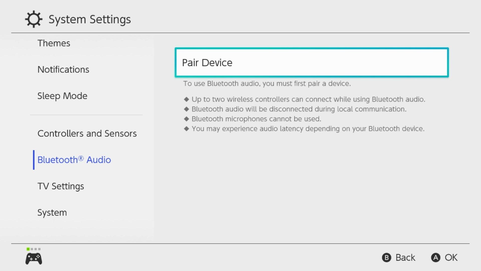 Switch теперь поддерживает Bluetooth-наушники